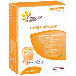 Fleurance Nature Oméga Mémoire 30 gélules et 30 capsules oméga 3 ginkgo curcuma Les copines bio