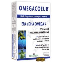 Holistica Omegacoeur EPA DHA Ail 60 capsules oméga 3 cardiovasculaire Les copines bio