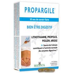 Holistica Propargile Propolis Argile 64 gélules végétales ventre plat amélioration digestion Les copines bio