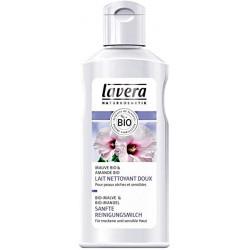 Lavera Lait nettoyant doux  Mauve et Amande 125ml nettoie le visage tout en douceur