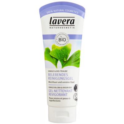 Lavera Gel nettoyant revigorant Ginkgo Biloba bio et raisin bio100 ml hygiène bio