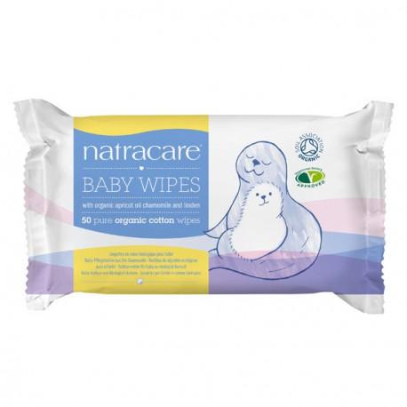 Lingettes en coton bio pour bébé-50 lingettes