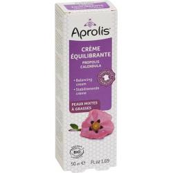 Aprolis Crème Equilibrante Propolis Calendula bio 50ml peaux jeunes, acné irritations peaux grasses Les copines bio