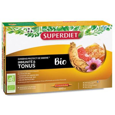Super Diet Ginseng Russe Gelée Royale Echinacée Pépins de Pamplemousse 20ampoules les copines bio