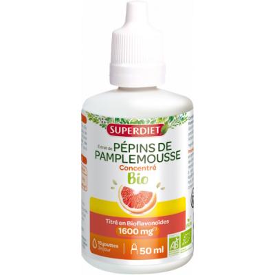 Super Diet Extrait de Pépins de Pamplemousse Bio 420mg 50ml immunité les copines bio