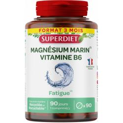 Super Diet Magnesium marin Vitamine B6 90 comprimés magnesium issu de la mer Les copines bio