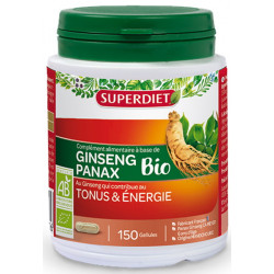 Super Diet Ginseng Bio Tonus et énergie 150 gélules tonus vitalité anti-stress Les copines bio