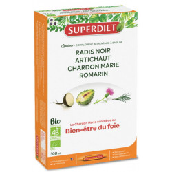 Super Diet Quatuor radis noir Chardon marie artichaut romarin 20x15 ml Les copines bio