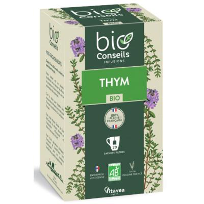 Bio Conseils Infusion Thym Bio France 20 sachets antiseptique refroidissements tisane Les copines bio