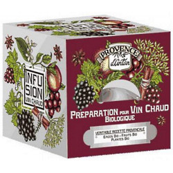 Provence d'Antan Tisane Be Cube Préparation pour vin chaud bio 24 sachets épices énergie Les copines bio