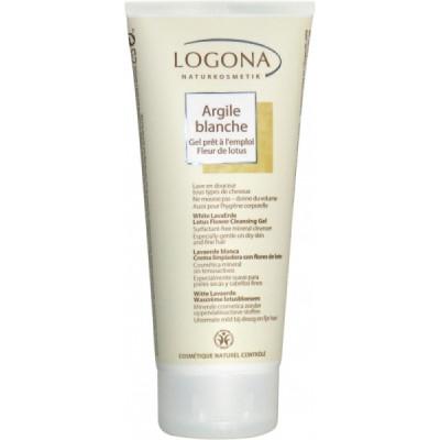 Logona Argile blanche gel prêt à l'emploi Fleur de Lotus cheveux corps 200ml  pureté Les copines bio