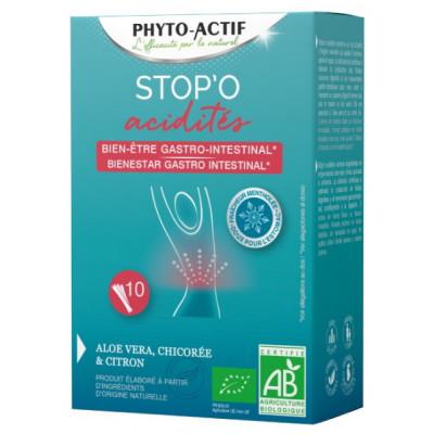 Stop'O acidités 10 sticks buvables - Phyto-actif acidité gastrique Les copines bio