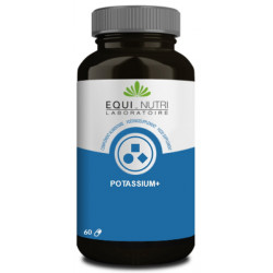 Equi Nutri Potassium Plus Citrate de Potassium 60 gélules équilibre de la tension sanguine acide base Les copines bio