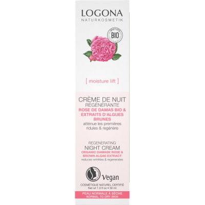 Logona Creme de nuit regenerante Rose de Damas bio Kalpariane 30 ml