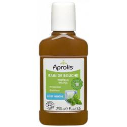 Aprolis Bain de bouche Propolis et Xylitol goût Menthe 250 ml santé bucco dentaire fraicheur Les copines bio