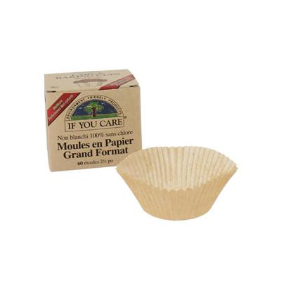 If You Care 60 Moules en papier non blanchi et 100% sans chlore x60 Beauté et Bien-être Les Copines Bio.