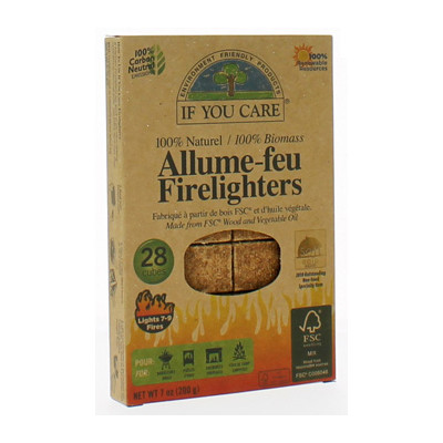 If You Care Allume feu 100% naturel 28 cubes Beauté et Bien-être Les Copines Bio.