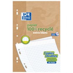 Ecoburo 50 Copies doubles recyclées 21 x 29.7cm Oxford grands carreaux perforées A4 90g x50 Beauté et Bien-être Les Copines Bio.