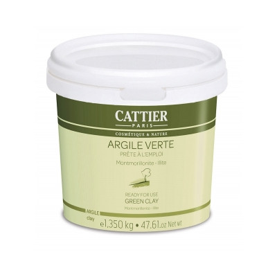 Cattier Argile verte Montmorillonite Prête à l'Emploi pot 1350mg Beauté et Bien-être Les Copines Bio.