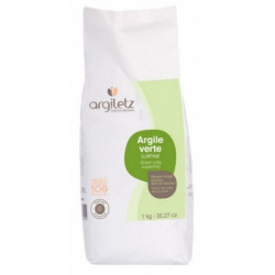 Argiletz Argile verte surfine 1kg Beauté et Bien-être Les Copines Bio.