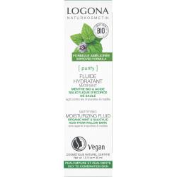 Logona Fluide hydratant et matifiant menthe bio et acide salicylique 30ml
