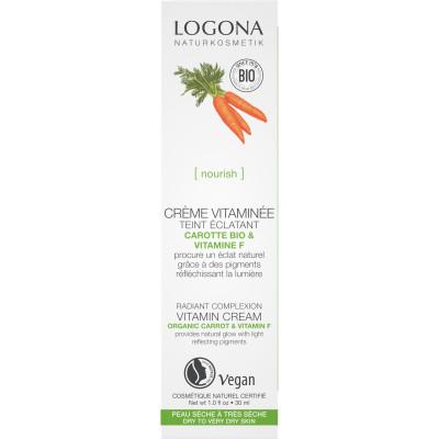 Logona Crème vitaminée embellisseur teint carotte bio 30ml