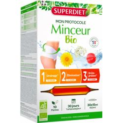 Protocole Minceur 30 ampoules de 15ml Super Diet élimination brûleur de graisses les copines bio