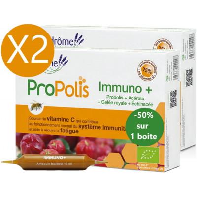 Ladrôme Lot duo Immuno Plus 2 x 20 ampoules le 2ème à 50pc immunité active fatigue Les copines bio
