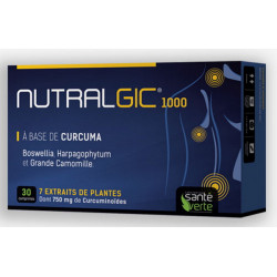 Santé Verte Nutralgic 1000 - 30 comprimés boswellia curcuma harpagophytum Les copines bio