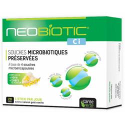 Santé Verte Neobiotic CI Probiotiques 20 Sticks souches microbiotiques Les copines bio