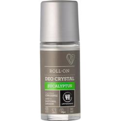 Urtekram Déodorant bille Deo Crystal Eucalyptus 50 ml pierre d'alun peaux sensibles Les copines bio