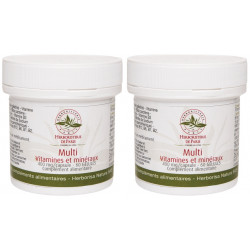 Herboristerie de paris Lot de 2 Multi Vitamines Minéraux 2x60 gélules 2 mois de cure vitalité tonus Les copines bio