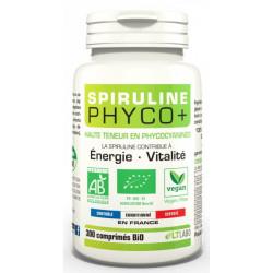 Lt Labo Spiruline Bio PHYCO PLUS 300 comprimés vitalité protection antioxydante Les copines bio