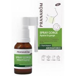 Pranarôm Spray gorge bio Aromaforce 15 ml huiles essentielles ORL Les copines bio