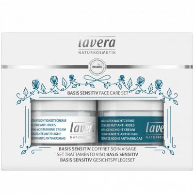 Lavera Coffret Soin du visage BASIS SENSITIV Jour et Nuit au coenzyme q10 + masque offert Les copines bio