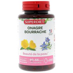 Super Diet Huiles de Bourrache et d'onagre 200 capsules les copines bio