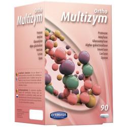 Orthonat Nutrition Multizym Enzymes digestives 90 gélules digestion ballonnements transit Les copines bio