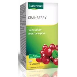 Naturland Cranberry Canneberge BIO 150 Gélules Végécaps santé urinaire confort Les copines bio