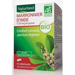 Naturland Marronnier d'Inde bio 75 gélules végétales flavonoides protecteurs Les copines bio