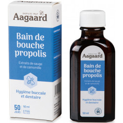 Aagaard Bain de Bouche à la Propolis 50 ml  hygiène bucco dentaire les copines bio