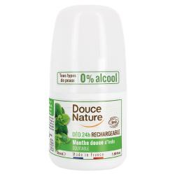 Douce nature Déodorant à billes peaux normales Menthe 24H 50ml Douce Nature Les copines bio