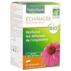 Naturland Echinacée bio 75 végecaps système immunitaire et défenses naturelles boostées