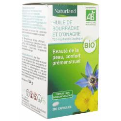 Naturland Huiles de Bourrache Onagre 200 capsules GLA beauté féminin Les copines bio