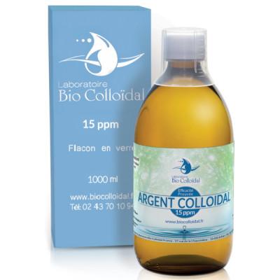 Bio Colloidal Argent Colloïdal 15ppm 1 litre argent ionisé oligo element les copines bio