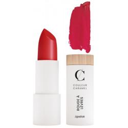 Couleur Caramel Rouge à lèvres Naturel Mat No 122 Rouge Groseille 3.5 gr mat poudré sophistiqué Les copines bio
