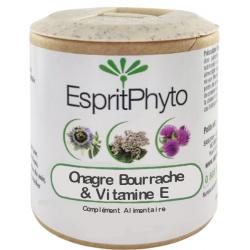 Onagre, Bourrache, Vitamine E 60 capsules de 500mg Espritphyto