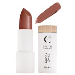 Couleur Caramel Rouge à lèvres satiné No 211 Brun nude maquillage teint naturel Les copines bio