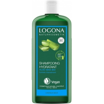 Shampooing Hydratant Aloe Vera 250 ml - Usage fréquent Logona soins quotidiens les copines bio
