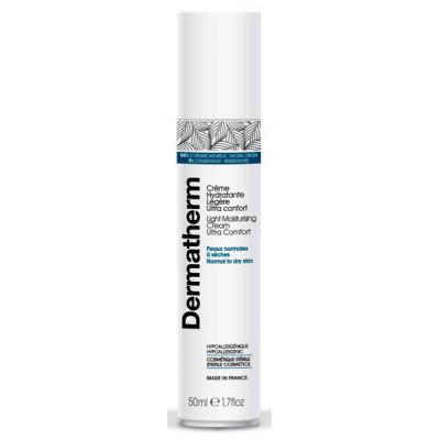 Dermatherm Crème hydratante légère ultra confort 50 ml peaux sèches réactives Les copines bio