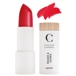 Couleur Caramel Rouge à lèvres satiné No 280 vrai rouge 3.5gr teinte plus claire brillante les copines bio